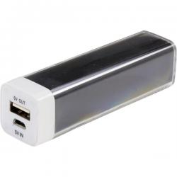 Powerbank, USB 5V 1A, 2600mAh (Svart)